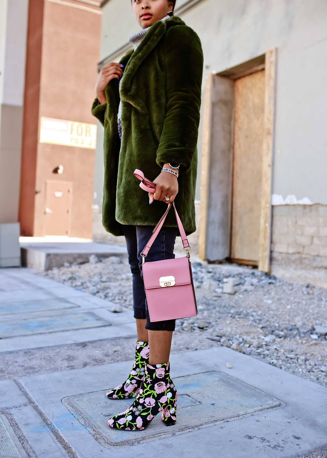 how to style floral booties, the beauty beau
