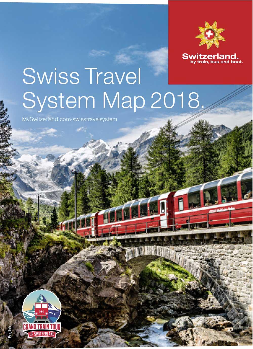 Swiss Travel System Map 2018