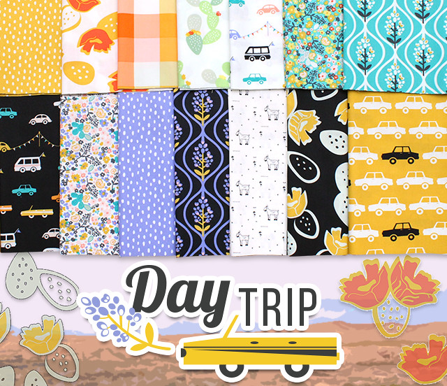 Art Gallery Fabrics Day Trip Collection by Dana Willard