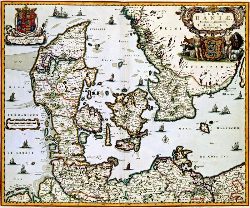 Nicolaes Visscher II - REGNI DANIAE Novissima et Accuratissima TABULA (c.1681)