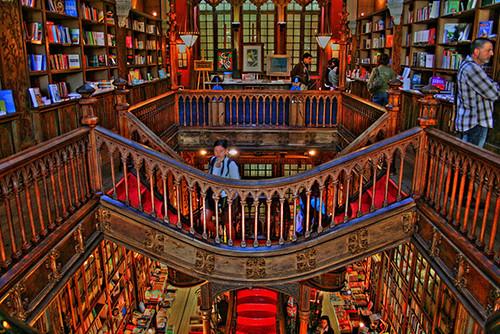 Bookstore Livraria Lello in Porto, Portugal