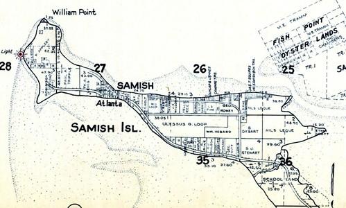 Samish Island Map 1941