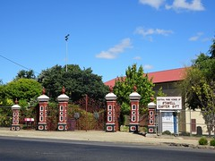 Stawell. Gates to the oval and the home of the Stawell Gift foot race held each Easter.