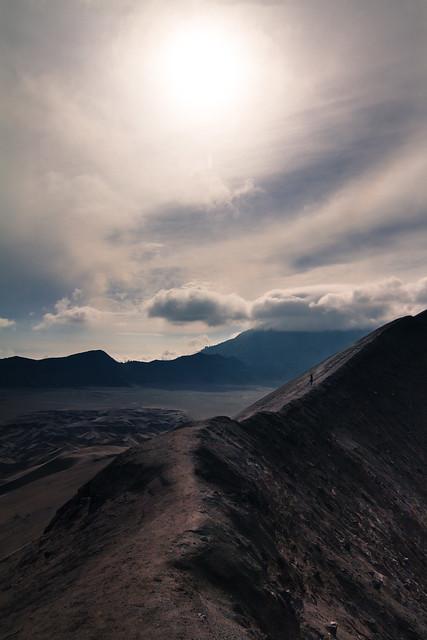 On the edge, Bromo volcano, Indonesia