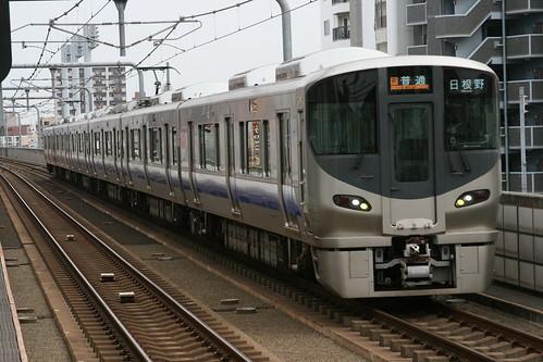 JR West 225 series(5100s) in Nagai.Sta, Osaka, Osaka, Japan /Dec 31, 2017