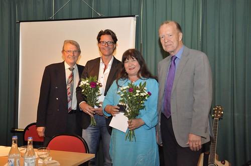Parhästar. Pontus Helander och Carina Perenkranz fick föreningen Gamla Norrköpings Lidénmedalj 2012