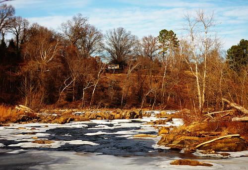 winter ice coldriver falls rappahannockriver fallline fredericksburg virginia landscape colour digital pentax k3 pentaxdaf35561855mmallens