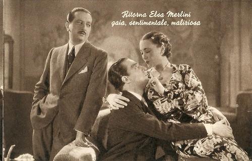 Elsa Merlini, Vittorio De Sica and Enrico Viarisio in Non ti conosco più