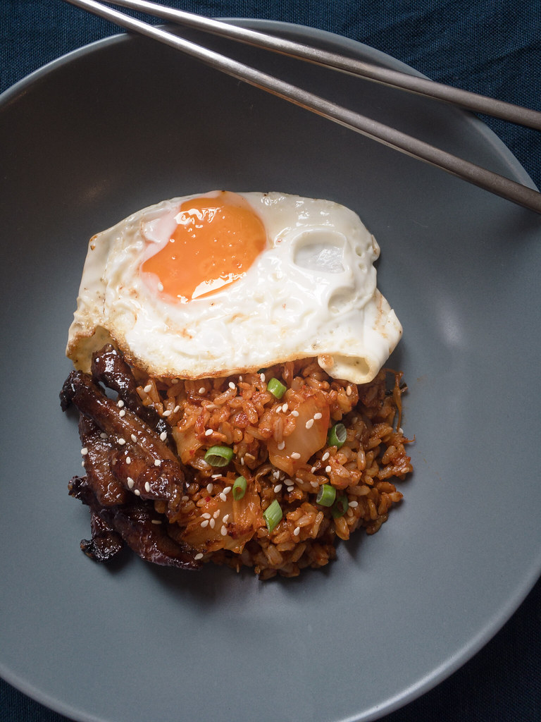 Kimchi Fried Rice + Korean beef + Egg is Tapkilog, Korean Tapsilog!