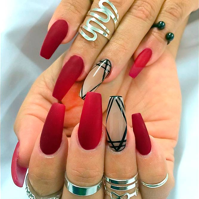 French Red Nail Designs - 21 Ideas Of Beautiful Red Nail Designs - Nails C