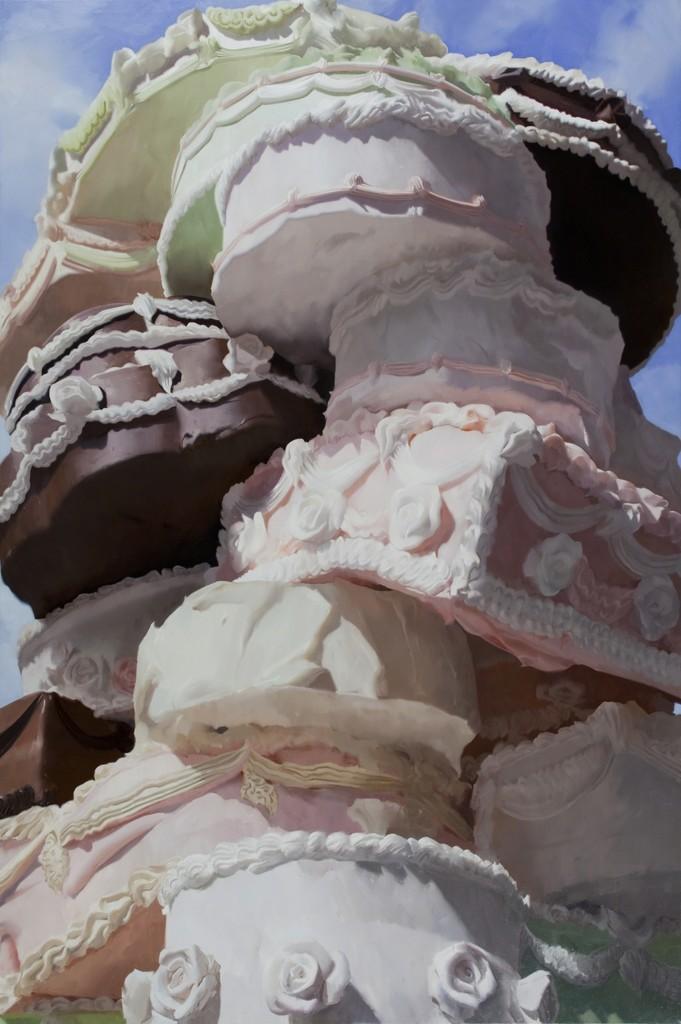 Will Cotton (American, b. 1965), Wedding Cake, 2009. Oil on linen, 8