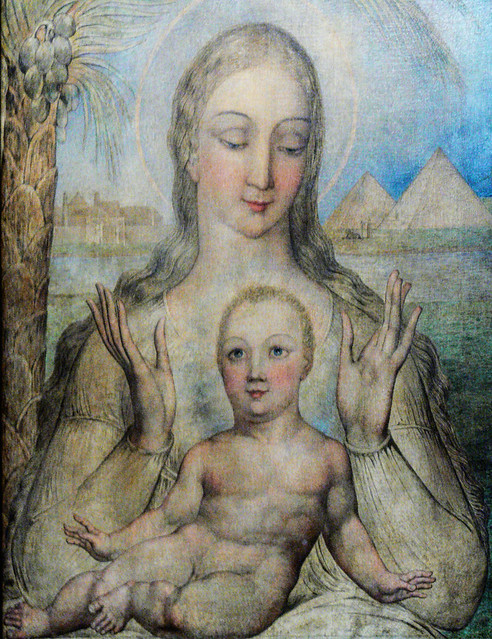 Tue, 07/04/2017 - 10:21 - Virgin and Child in Egypt by William Blake - V&A London 08/05/2010