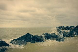 Waves on Azov sea