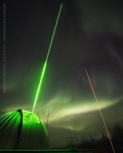 Of lasers and Northern Lights