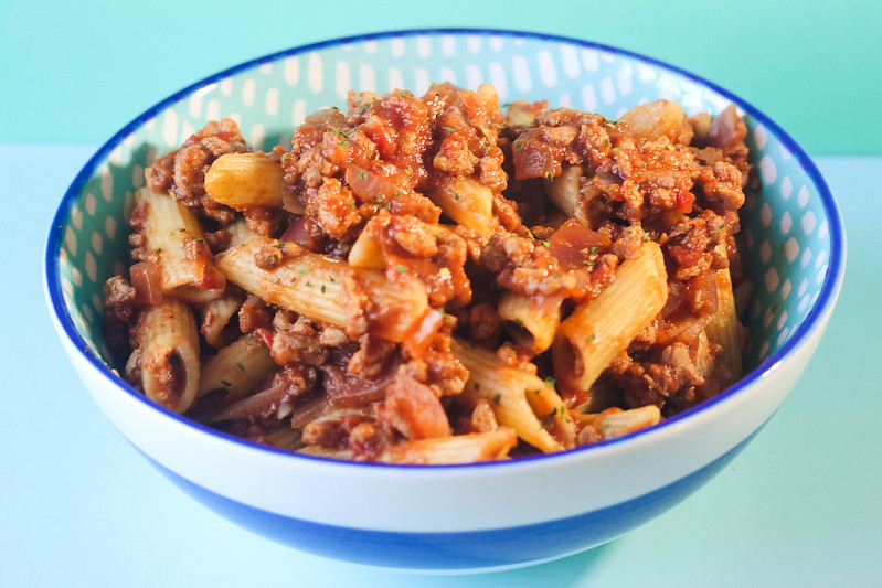 Easy vegetarian penne ragu pasta recipe