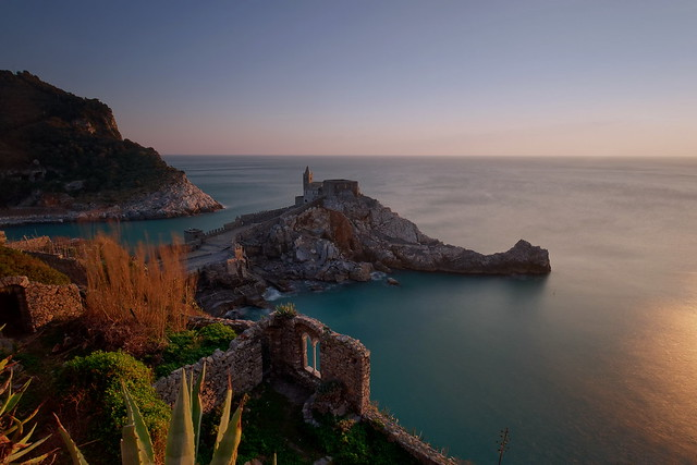 sunset in Portovenere