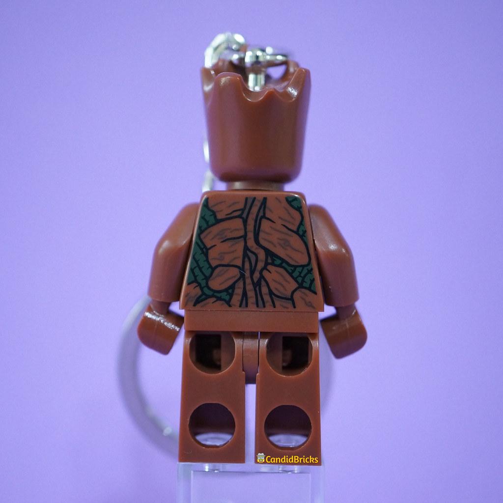 Teen Groot Keychain Back