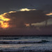 Thundercloud at sunset