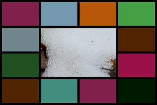 winter color collage