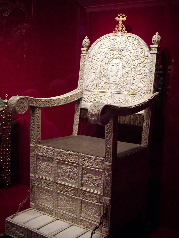 Ivan's throne (ivory, metal, wood)