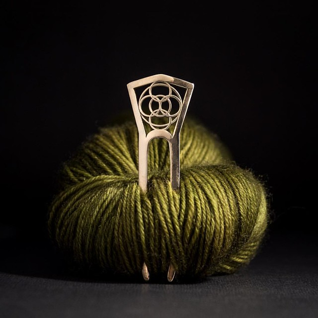 New Crop Circle Shawl Pin to help aliens land closer to fiber artists.