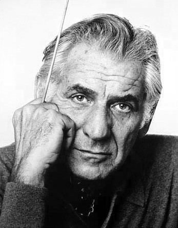 Leonard Bernstein by Jack Mitchell via Wikipedia