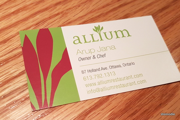 Allium business card