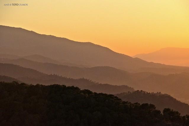 Carrascoy National Park. Sunset.