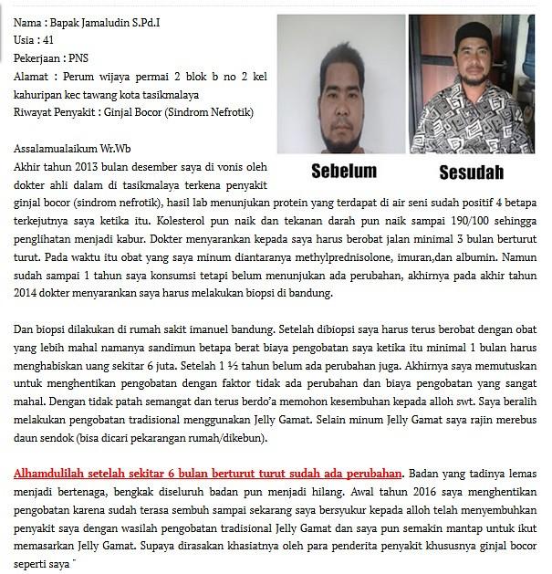 Obat Ginjal Bocor Resep Dokter
