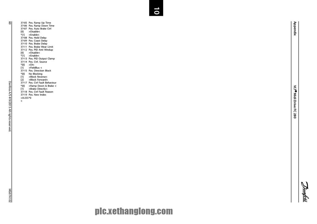 Bảng thông số cài đặt biến tần Danfoss VLT FC 208 - Phần 4