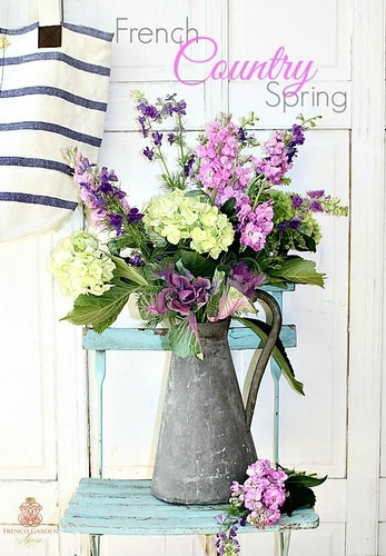 French-Country-Spring-Flower-Arrangement-in-Zinc-Pitcher-2-2