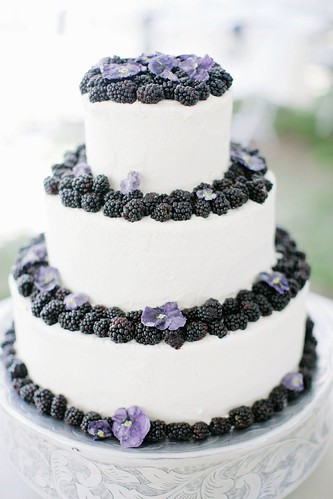 Wedding Cakes : Blackberry wedding cake! Photography by aldersphotography...  Read more - www.st...