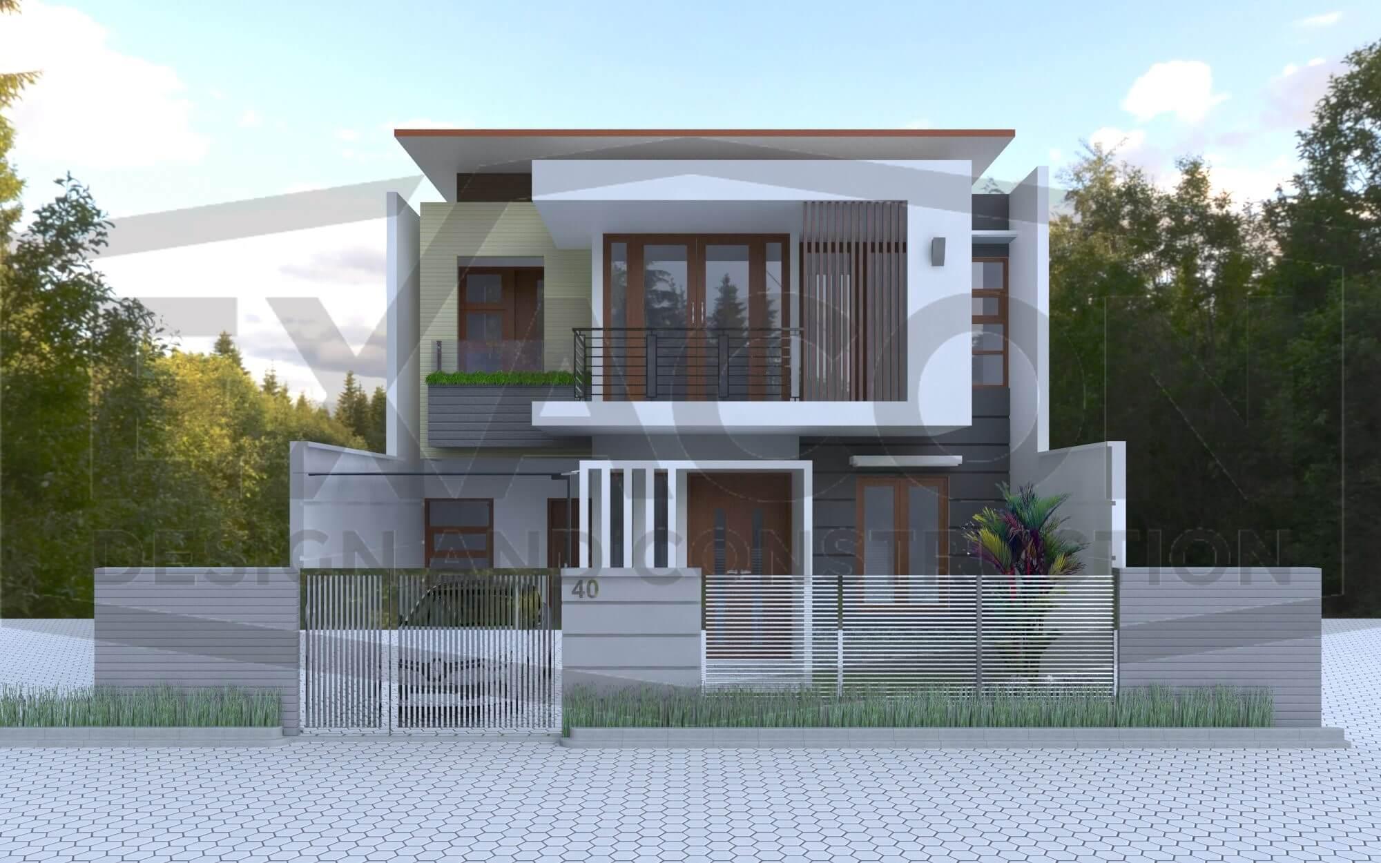 Proyek Desain Rumah 2 Lantai Minimalis Modern Bapak Tri - Jakarta Selatan