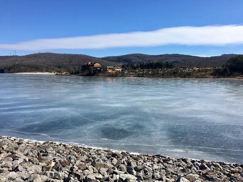 rockygapstatepark flinstone maryland alleganyco resorts habeeblake lakes frozen mountains clouds mdstateparks iphone