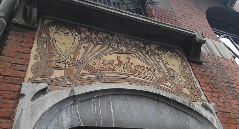 Art Nouveau in Brussel, St. Gilles: Les Hiboux | Mooistestedentrips.nl