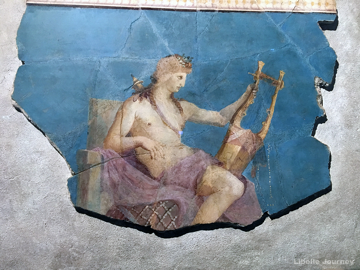 Fresco with Apollo playing the lyre