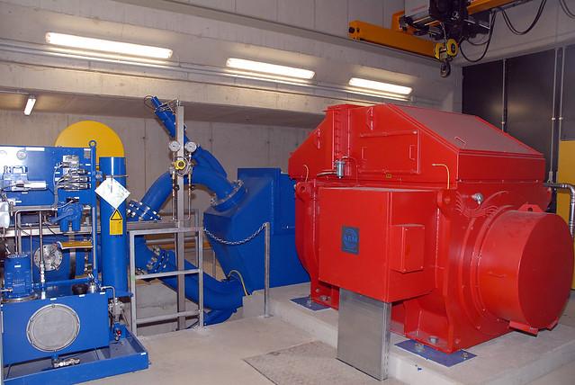Wasser Kraftwerk Bergbahnen See