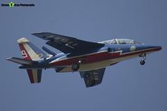 E158 9 F-TERF - E158 - Patrouille de France - French Air Force - Dassault-Dornier Alpha Jet E - RIAT 2013 Fairford - Steven Gray - IMG_9884