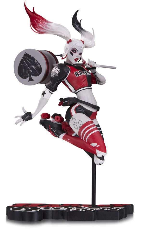 拿著大錘子還是可以跳高高~! DC Collectible【小丑女 哈莉·奎茵】DC Comics Red White & Black Harley Quinn by Babs Tarr