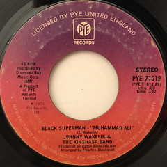 JOHNNY WAKEIN & THE KINSHASA BAND:BACK SUPERMAN(MUHAMMAD ALI)(LABEL SIDE-A)