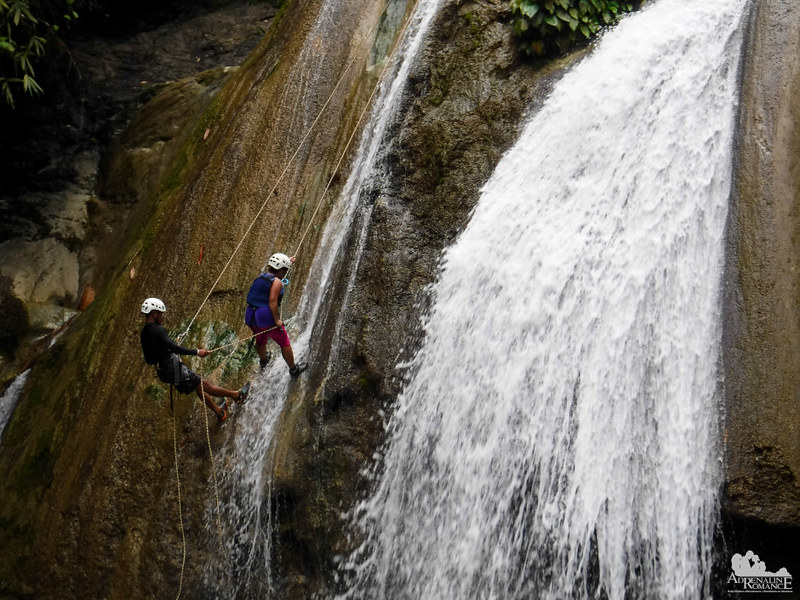 Waterfalls rappelling