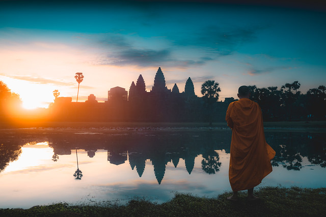 Angkor Wat at Sunrise, Siem Reap Cambodia