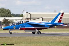 E31 5 F-TERK - E31 - Patrouille de France - French Air Force - Dassault-Dornier Alpha Jet E - RIAT 2010 Fairford - Steven Gray - IMG_9762