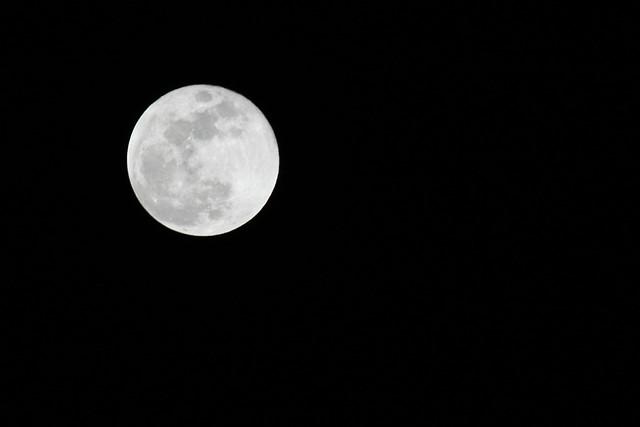 Full moon over Dartmouth Nova Scotia
