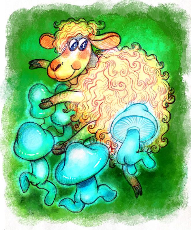 06 тема синий гриб овца