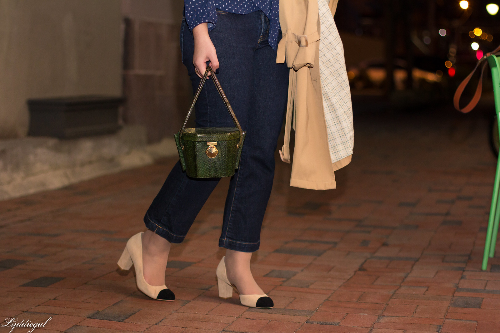 Navy Dot Wrap Blouse, Cropped denim, Green Box Bag-23.jpg