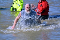 #IndyPlunge @ Eagle Creek Park getting all wet on a winter day.