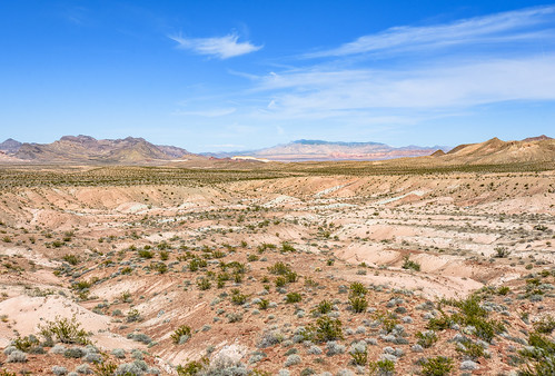 A line of blue, marking Lake Mead, Lake Mead National Recreation Area, Nevada