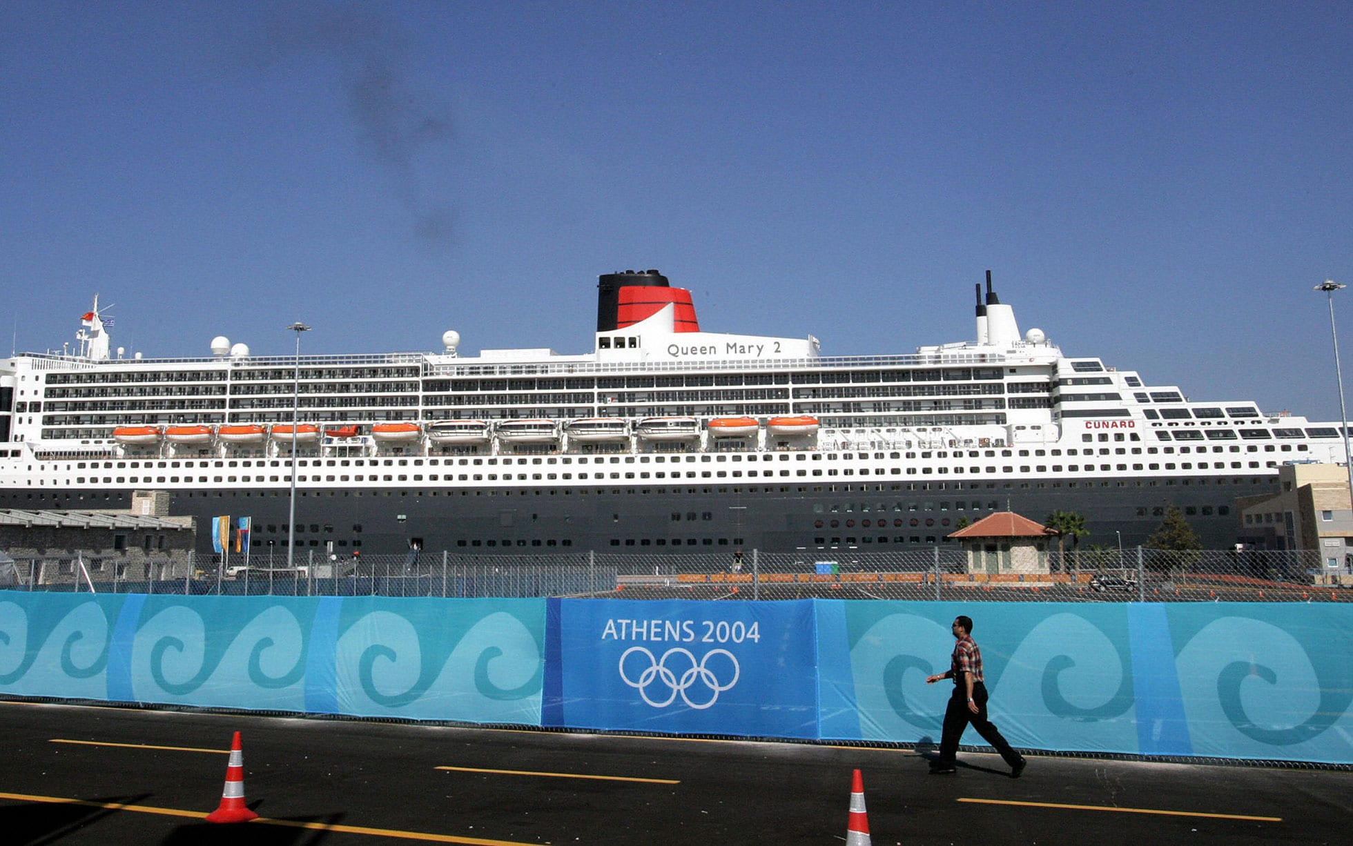 Queen Mary 2 at the 2004 Summer Olympics in Athens, Greece.
