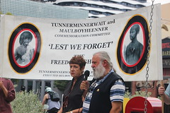 Joseph Toscano and Carolyn Briggs at Commemoration of Tunnerminnerwait and Maulboyheener - IMG_2791